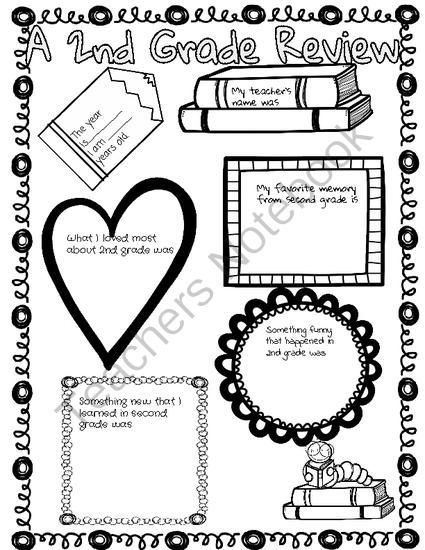 End of the School Year Poster- 2nd Grade in Review from