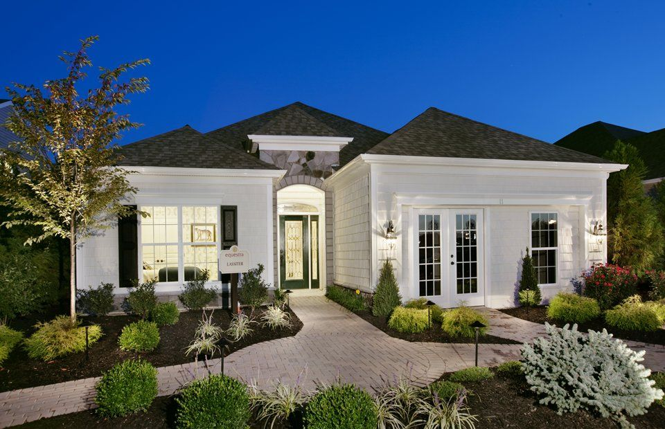 Luxury single story Home exteriors  Equestra  Howell Twp NJ New Homes  Centex Homes