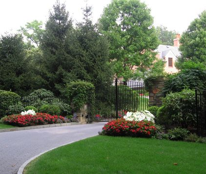 Entrance Gate And Landscaping Dream Home Ideas Pinterest