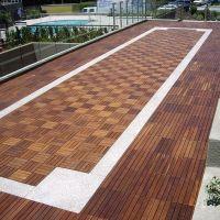 Outdoor Wood Deck Tile - wood flooring - chicago - Home ...