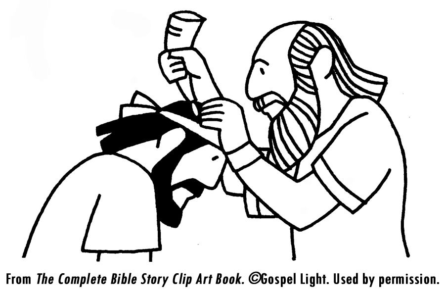 King David and King Saul Clip Art