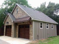metal awning above garage doors | Detached Garage ...