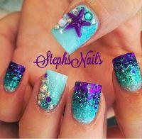 Mermaid nails | Nail Art | Pinterest | Mermaid nails ...