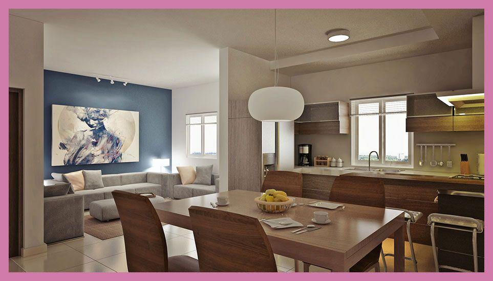 decoracin sala comedor cocina juntos actual  Decoracion