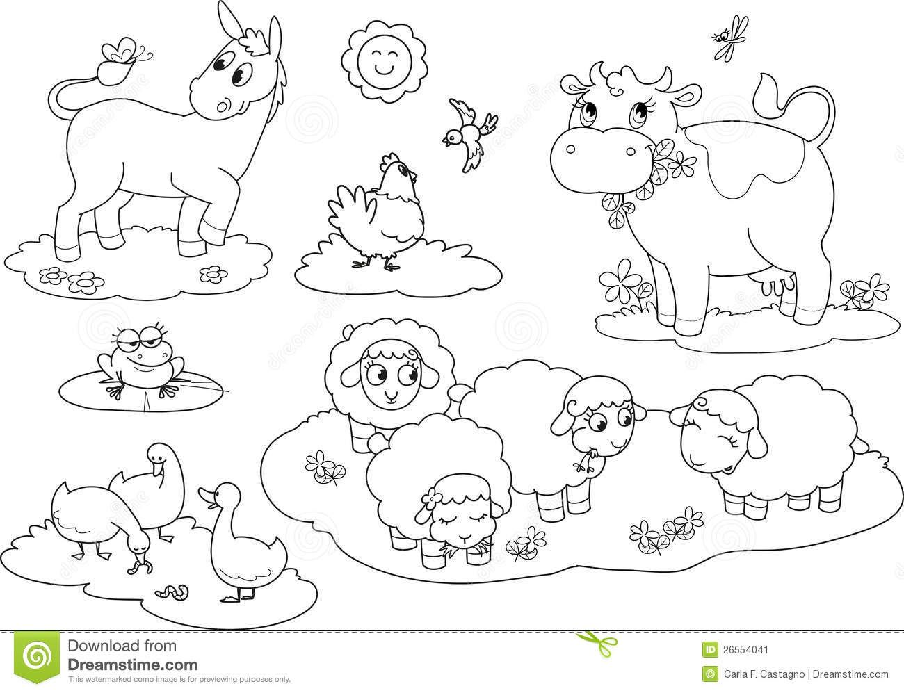 Farm Animals Pictures To Color