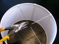 how to make your own hanging drum light. Has a link for ...