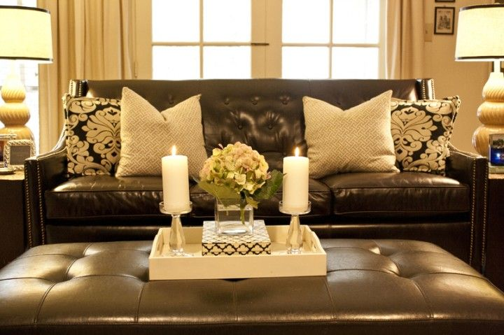Brown couch on Pinterest  Brown Leather Sofas Brown