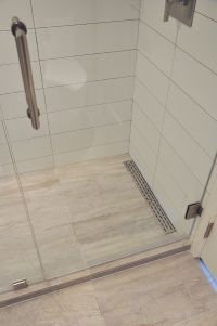 Linear shower floor drain