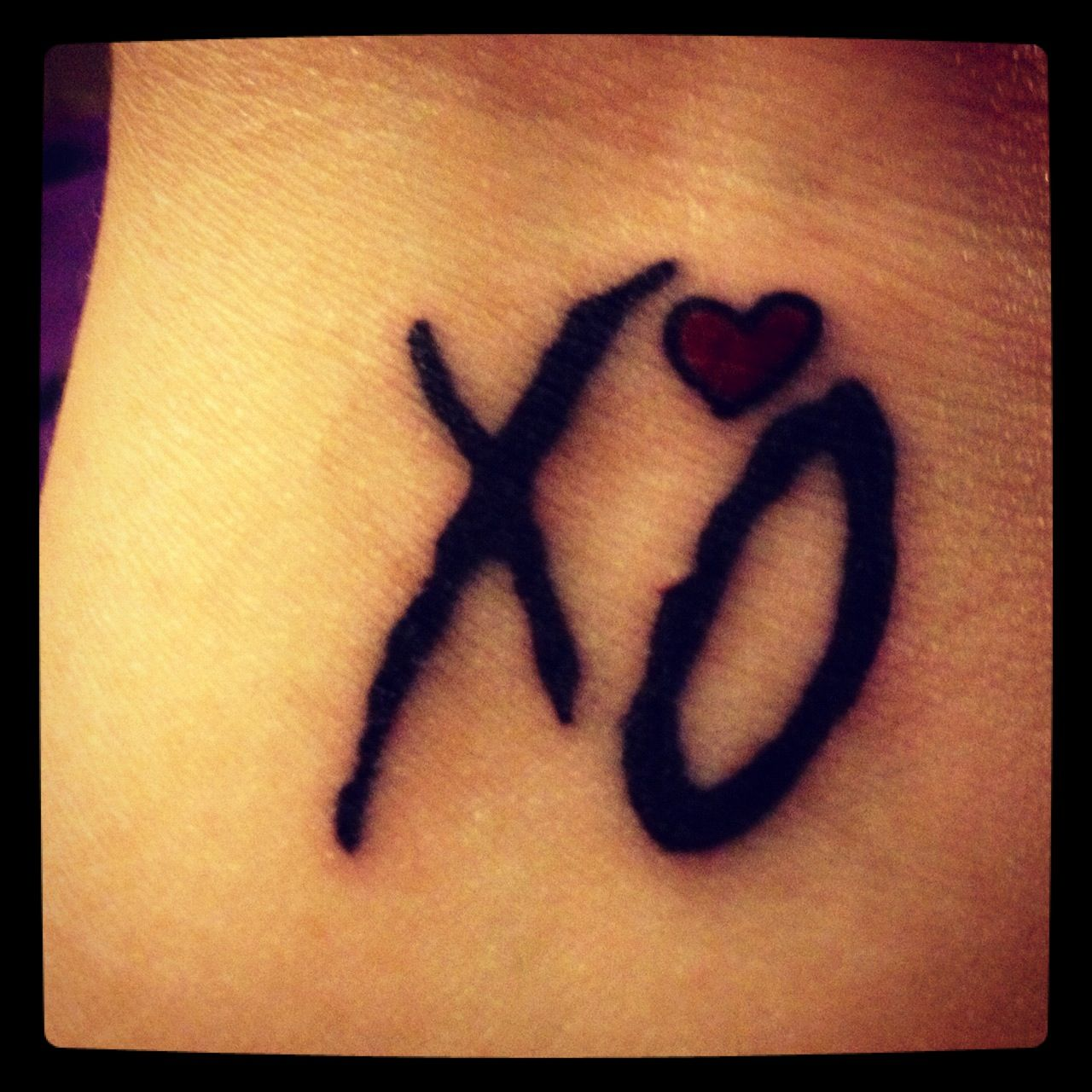 Small Weeknd Tattoo Xo