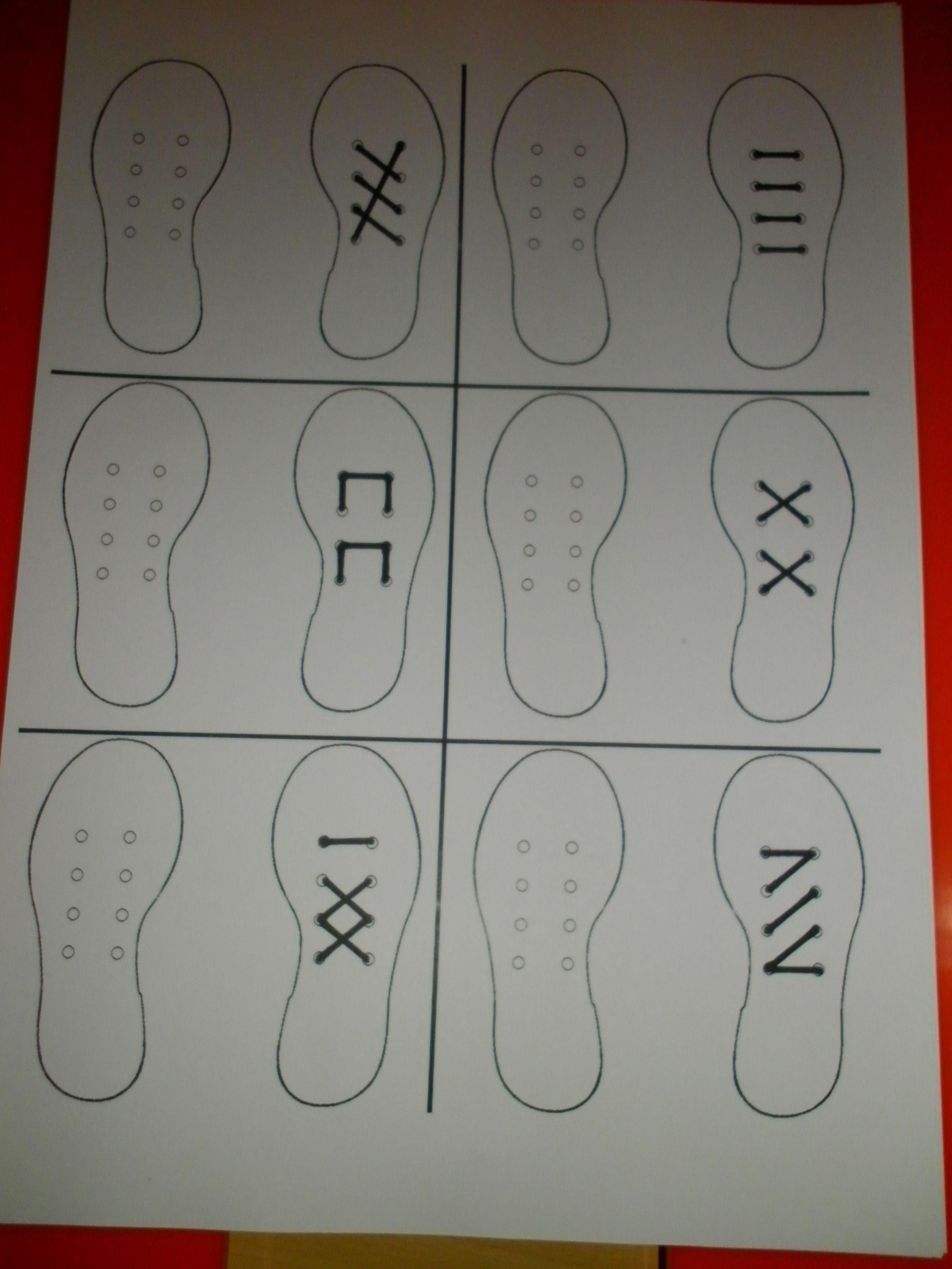 Raamfiguren Met Schoenen Voor De Linkshandigen Veter De