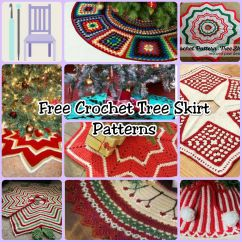 Crochet Christmas Chair Covers Funky Bed Free Tree Skirt Patterns The Lavender My