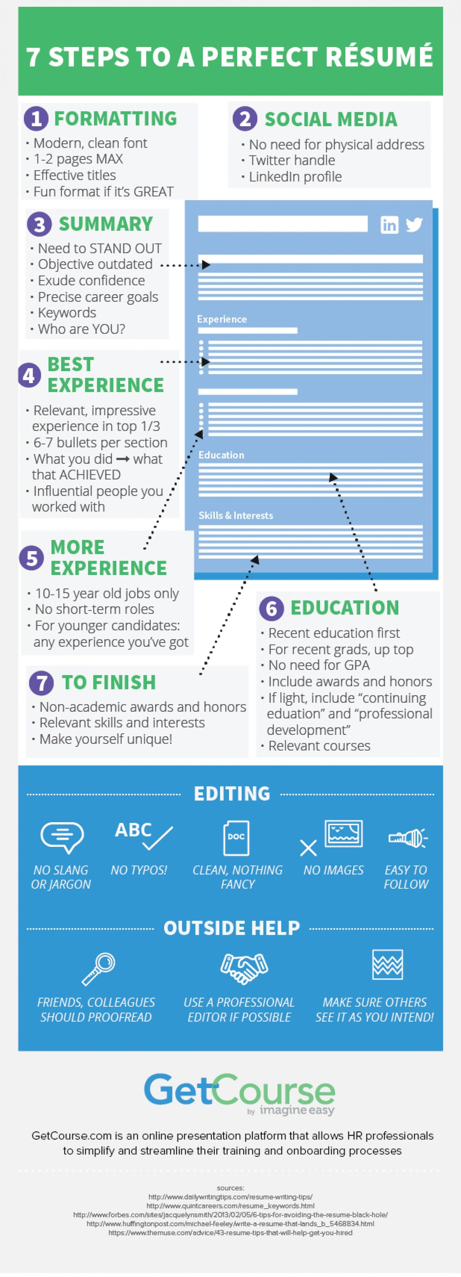 Steps To Making A Resume 7 Steps To A Perfect Resume Careers My Best Self