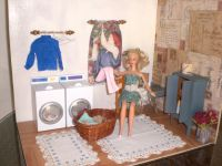 Homemade Barbie Furniture | Barbie Doll House LAUNDRY ROOM ...