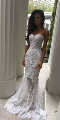 Charming White Lace Wedding Dress,S | Sweetheart bridal ...