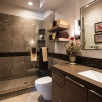 modern bathroom colors brown color shades chic bathroom ...