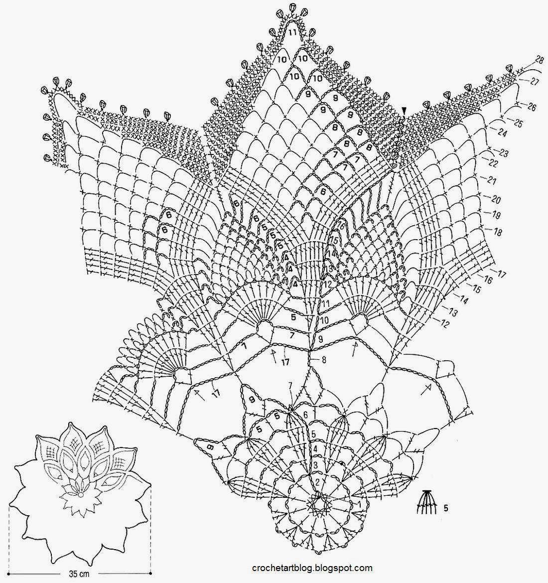 Crochet Art Crochet Pattern Of Gorgeous Doily