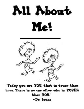 This is a Kindergarten (or first grade) all about me book