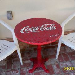 Coca Cola Chairs And Tables Makeup For Vanity Make A Mosaic Table Mosaics