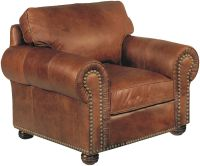 Stickley Hutchinson Leather Chair with nailhead trim ...