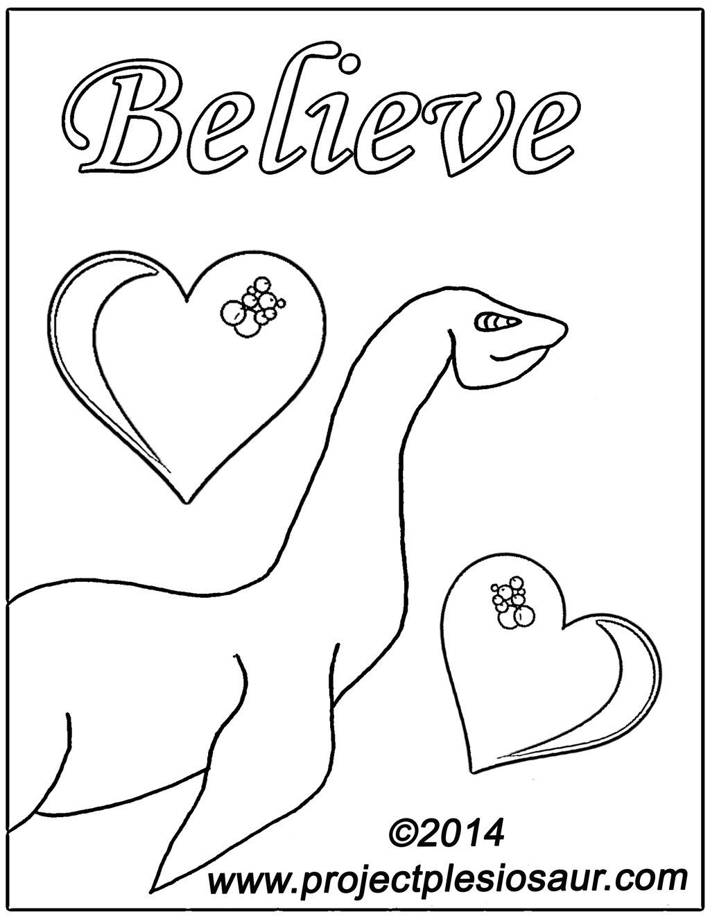 Loch Ness Monster Coloring Pages
