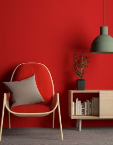 Magda easy chair by sara elizagarate nogales  also red interior decor rh nz pinterest