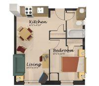 Home Design One Room Apartment Floor Plan, Apartment ...