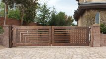 Wrought Iron Fence Driveway Gates Designs
