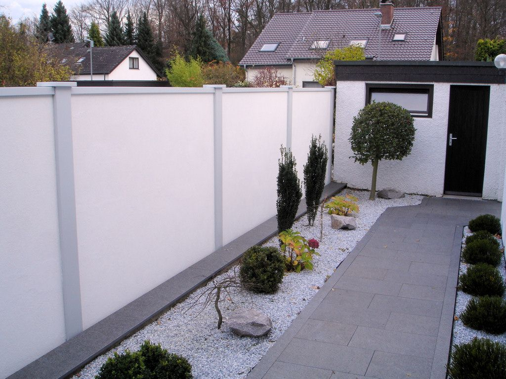 Sichtschutzmauer Elemente Im Eingangsbereich M Hohe