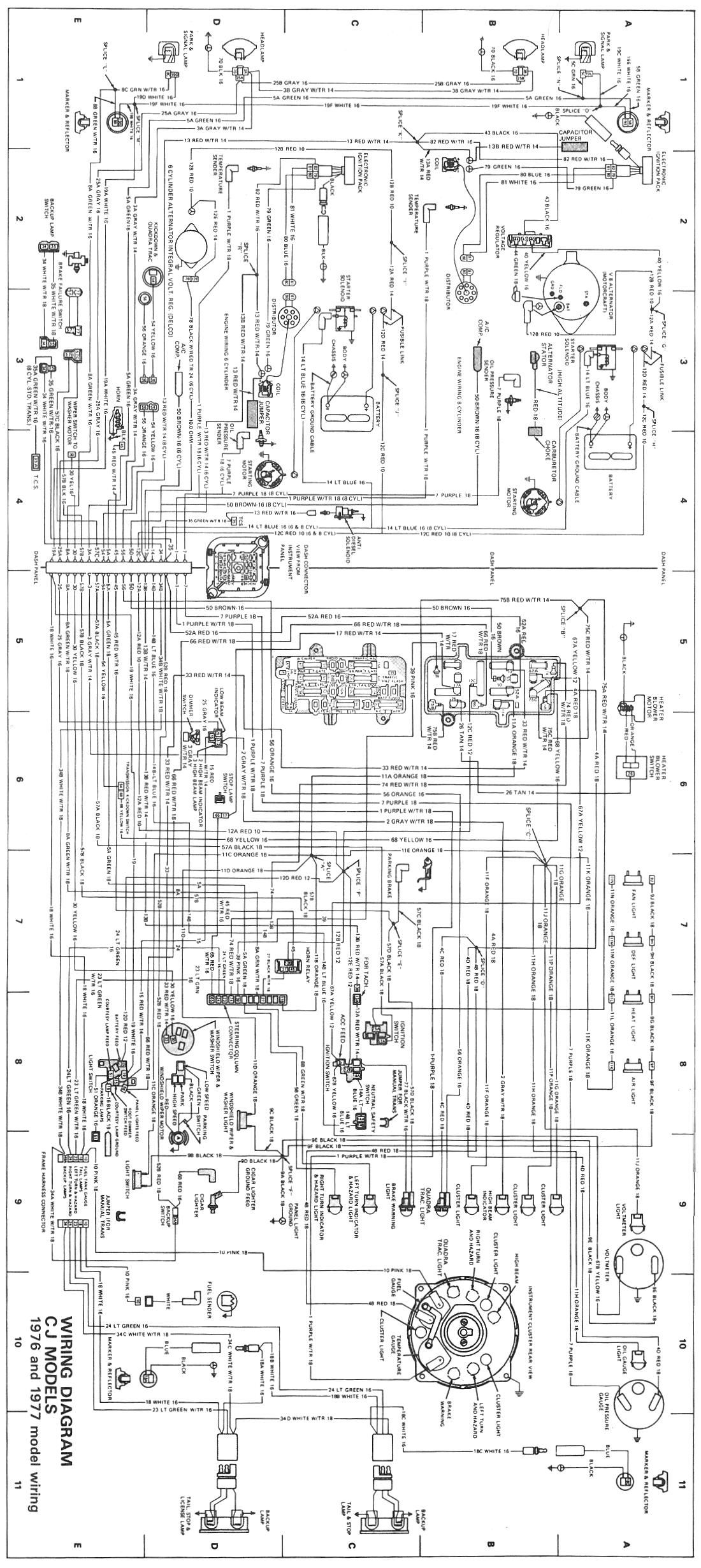 hight resolution of cj wiring diagram 1976 1977 jpg 1 100 2 459 pixels