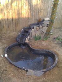 New water feature pond. #Pondliner #pondliners #