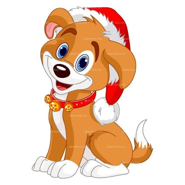 Cute Dog Christmas Clip Art