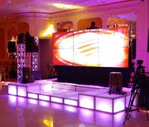 Led Lighted Dj Booth With Large Video Wall & Dance