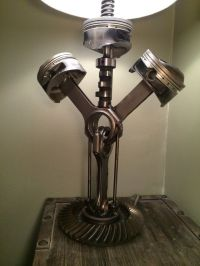 Hand crafted table lamp using repurposed by ...