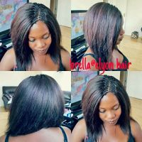 Crochet braids with pick and drop done with xpression hair ...