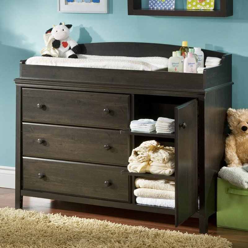 White Dresser Dark Wood Top