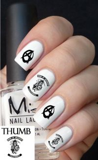 Sons of Anarchy Nail Decal | n a i l s | Pinterest | Nail ...