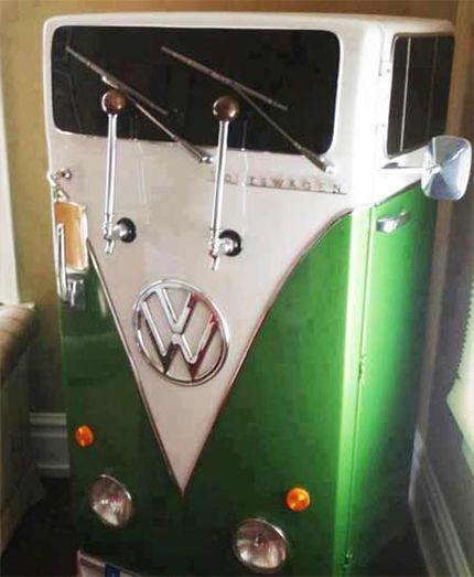 Green Volkswagen inspired beer fridge Ultimate Man Cave