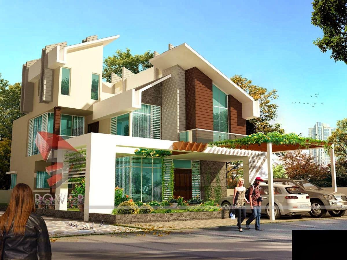 Ultra Modern Home Designs House 3D Interior Exterior Design