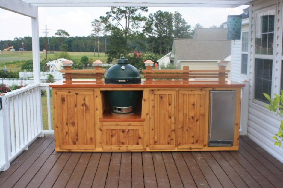 Astounding Outdoor Kitchen on Wood Deck With Natural