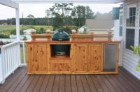 Astounding Outdoor Kitchen on Wood Deck With Natural ...