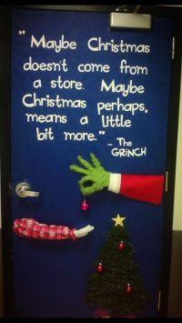 Grinch door decor | Christmas | Pinterest | Grinch, Doors ...