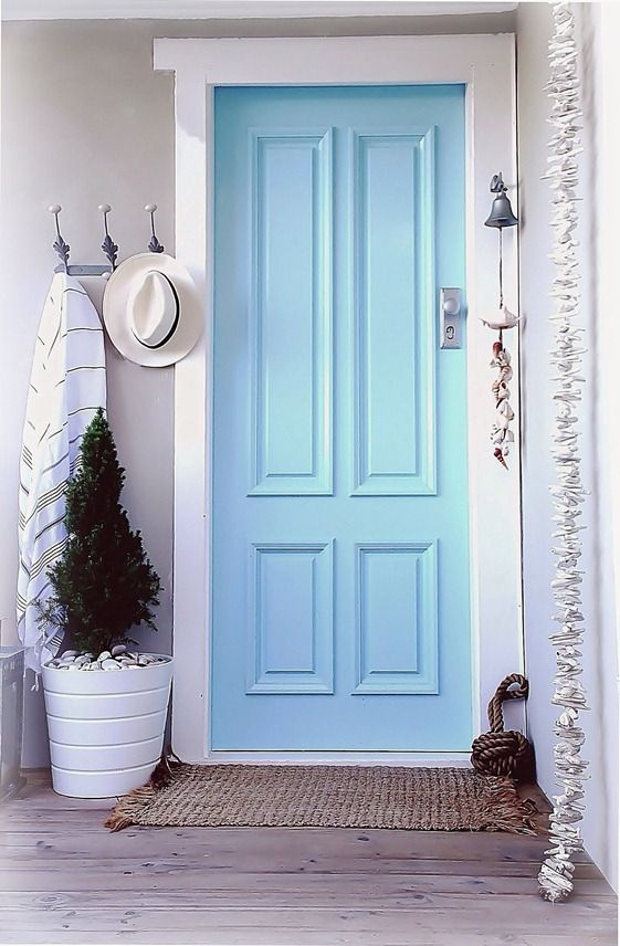 Beach House Coastal Cottage Front Entrance Door Decor