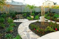 landscaping backyards with rocks | ... -backyard-bench ...