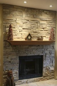 Ledge Stone (dry stack stone) Fireplace This was a brick ...