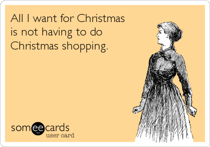 Image result for christmas shopping not done meme