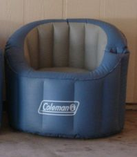 Coleman Inflatable Camping/Outdoor Chair with Cup/Drink Holder