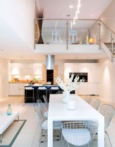 Private london residence sizzles with smart decor and  dramatic glass feature also rh za pinterest