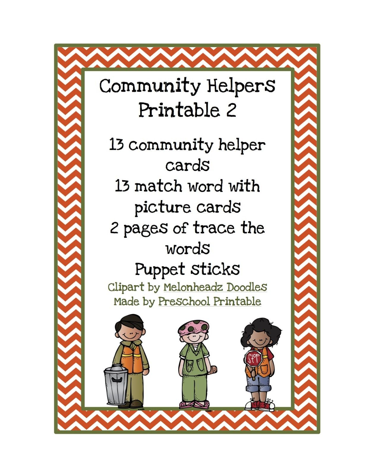 Community Helpers Printable