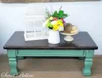 coffee table - teal and distressed Like this option. Keep ...