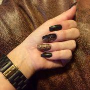 matte black gold sparkles coffin